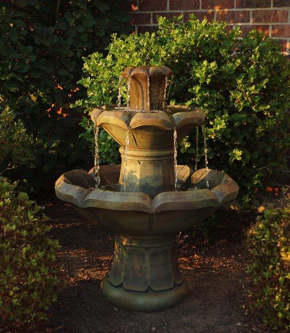 Sarasota Outdoor Fountains, Henri Studio Fountains, Montreaux Two Tier, Garden Fountains, Fountain Inventory Picture, Lakewood Ranch Sarasota Fountains