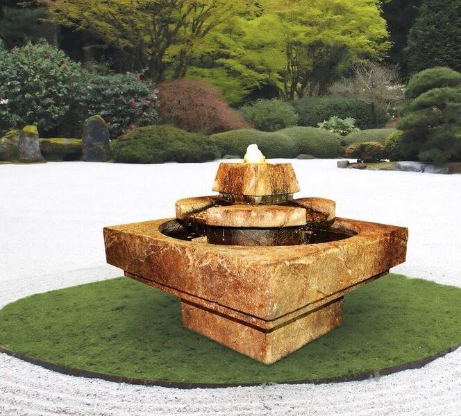 Sarasota Outdoor Fountains, Stone Edge Henri Studio Fountains, Garden Fountains, Stone Edge Cascade Fountain, Gulf Gate South Sarasota Fountains