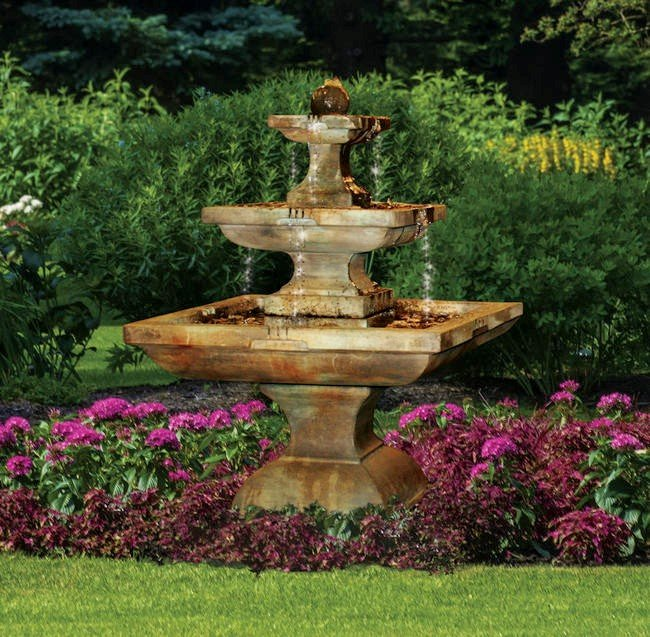 Sarasota Outdoor Fountains, Tall Equinox Henri Studio Fountains, Garden Fountains, Tall Equinox Fountain, Gulf Gate South Sarasota Fountains