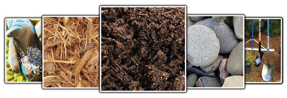 Compost, Mulch, River Rock, Fertilizer, Landscape Tools