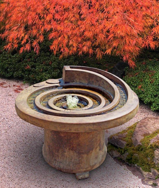 Sarasota Outdoor Fountains, Hurricane Eye Henri Studio Fountains, Garden Fountains, Hurricane Eye Fountain, Gulf Gate South Sarasota Fountains