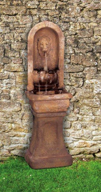 Sarasota Outdoor Fountains, Henri Studio Fountains, Garden Fountains, Tall Lion Alcove Fountain, St. Armands Circle Sarasota Fountains, 34243 Fountains