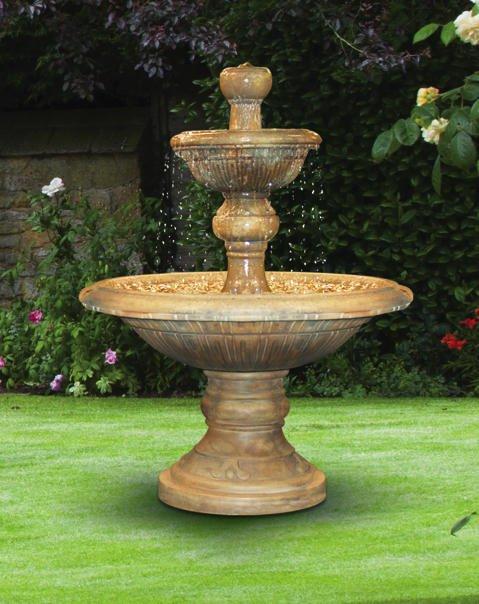 Sarasota Outdoor Fountains, Henri Studio Fountains, Garden Fountains, Two Tier Triviata Fountain, Lido Key Sarasota Fountains