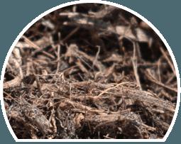 brown mulch, mineral mulch, landscape supply, signature mulch
